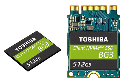 Toshiba présente le SSD le plus fin du monde : le BG3