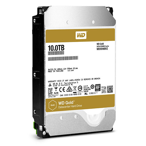 Western Digital offre une version 10 To à sa gamme WD Gold pour data centers