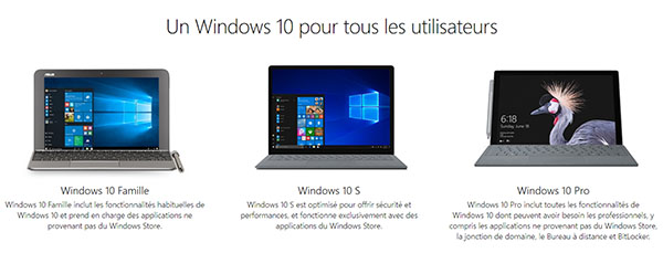 Microsoft met en ligne une version test de Windows 10S
