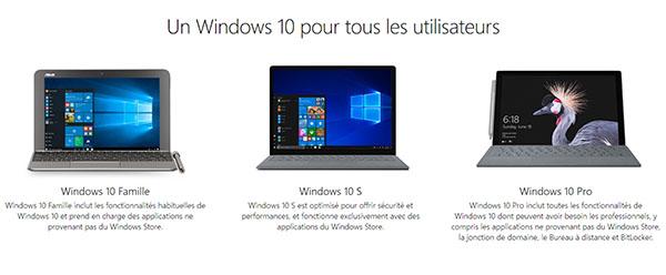 Microsoft met en ligne une version test de Windows 10S