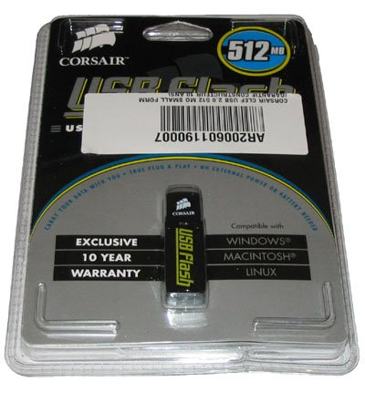 Test de la clé usb Corsair USB Flash