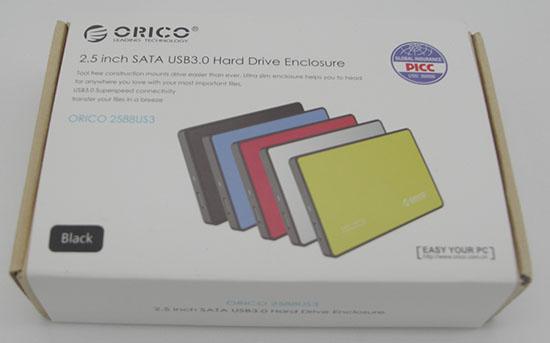 Test du boitier ORICO 2588US3 pour disques de 2,5 pouces