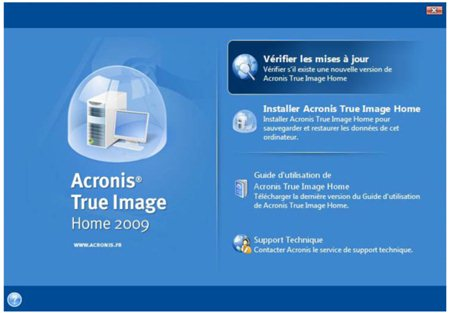 Test de True Image Home 2009