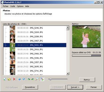 PhotoDVD 3 : stocker vos photos sur DVD-Vidéo