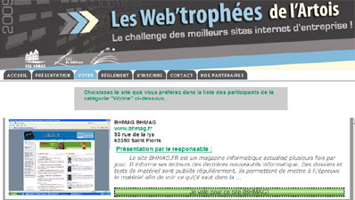 Votez pour BHmag aux Web Trophées !!