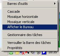 Comment accéder rapidement au bureau de Windows XP ?