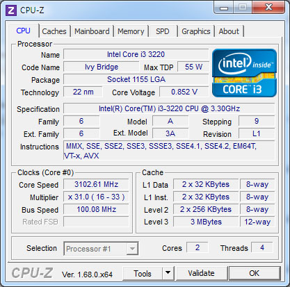 CPU-Z 1.69 est disponible : plusieurs nouveaux processeurs sont supportés