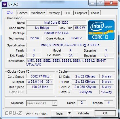 L'utilitaire CPU-Z est disponible en version 1.72