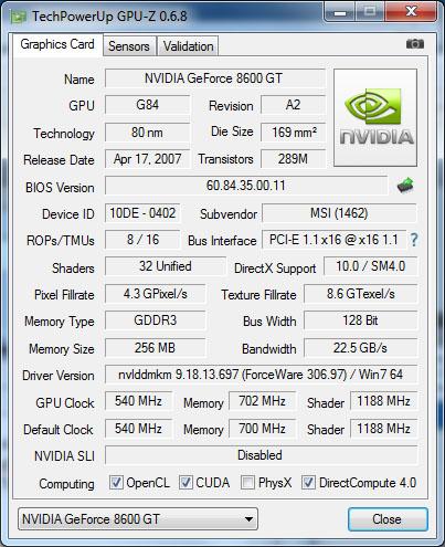 La version 0.7.0 de GPU-Z est disponible en téléchargement