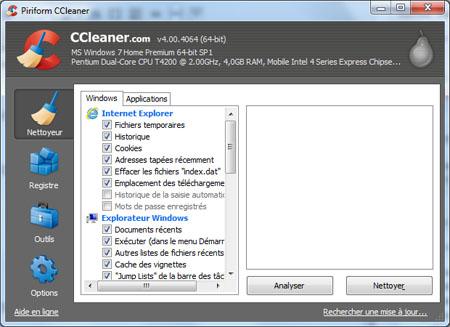 CCleaner 4.00.4064 : plus performant et plus efficace…