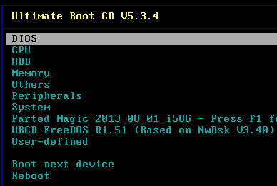 Ultimate Boot CD 5.3.5