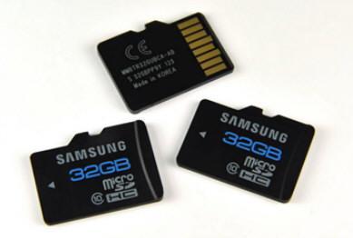Une microSDHC de 32 Go chez Samsung