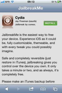 Jailbreakme : déjà un million d'appareils déverrouillés !
