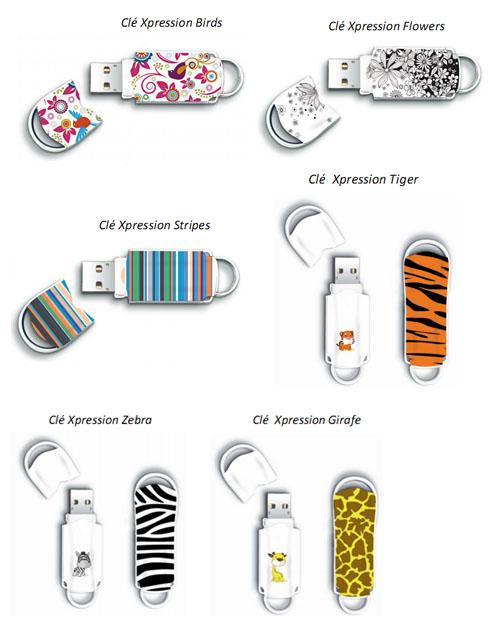 Intégral dévoile des clés usb design et colorées