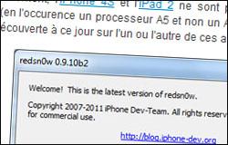 Le jailbreak untethered d'iOS 5.01 est disponible !
