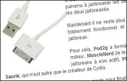 Jailbreak de l'iPhone 4S et de l'iPad 2