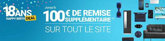 Bon Plan : RueDuCommerce fête son anniversaire et offre de 10 à 100 euros de remise