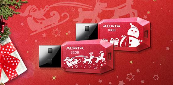C'est Noël avant l'heure chez ADATA qui lance la clé usb UV100F pour les fêtes