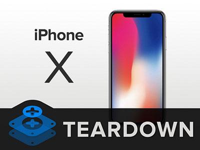 iFixit décortique l'iPhone X et lui donne la note de 6 sur 10