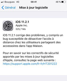 iOS 11.2.1 est maintenant dispo pour iPhone, iPad et iPod Touch