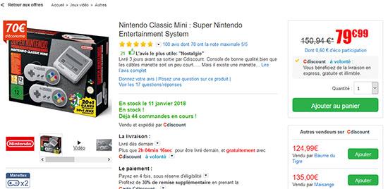 Bon Plan : la Super Nes Mini à nouveau en stock chez CDiscount