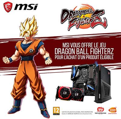 MSI offre Dragon Ball Z Fighters avec certains produits