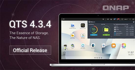 QTS 4.3.4 est disponible en téléchargement pour les NAS QNAP