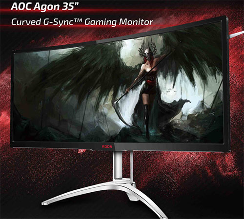 AOC annonce un moniteur 35″ incurvé pour les gamers