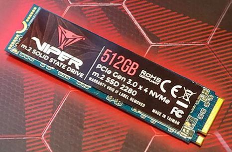 Patriot s'intéresse aux gamers et lance un nouveau SSD : le Viper !