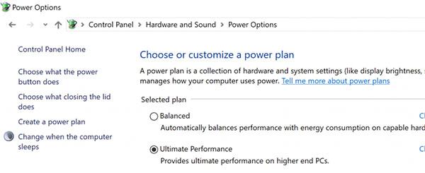 Un mode Performance Ultime pour la prochaine version de Windows 10 ?