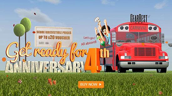 Bon Plan : une grosse quantité de promos pour l'anniversaire du site Gearbest