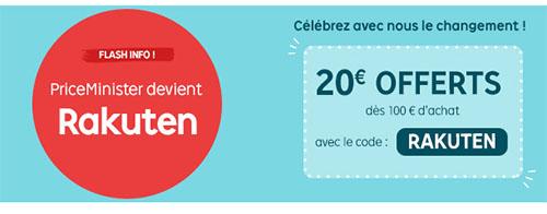 Bon Plan : Priceminister change de nom et offre 20€ de remise à cette occasion