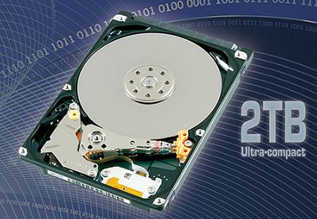 Toshiba présente un disque dur de 2,5 pouces de 2 To