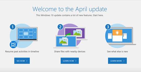 La Spring Creators Update porterait finalement le nom de April Update ! Sortie prévue le 8 mai prochain…