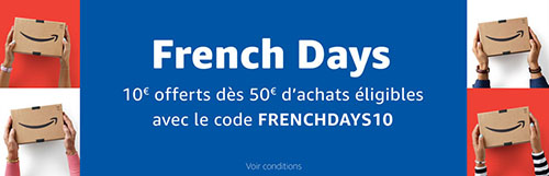 French Days : 10€ de remise sur le site Amazon.fr