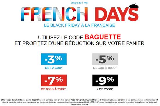 French Days : de 3 à 9% de remise sur tout le site GrosBill