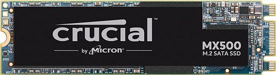 Crucial propose une déclinaison M.2. de son SSD Crucial MX500