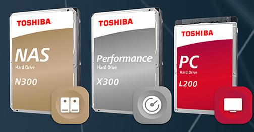 Toshiba ajoute de nouvelles capacités de stockage à ses disques durs N300, X300 et L200