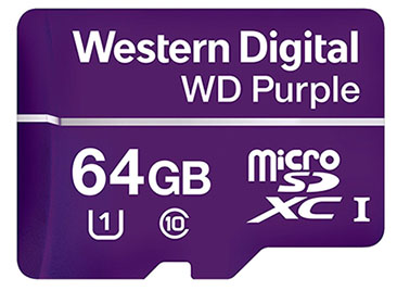 Western Digital ajoute une micro SDXC à sa gamme WD Purple