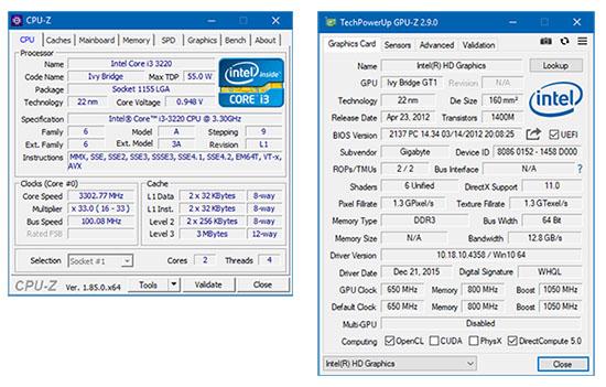 Voilà de nouvelles versions pour les programmes CPU-Z et GPU-Z