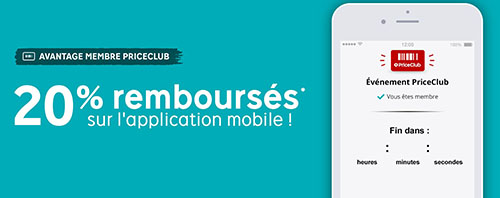 Bon Plan : Priceminister rembourse 20% sur l'application mobile