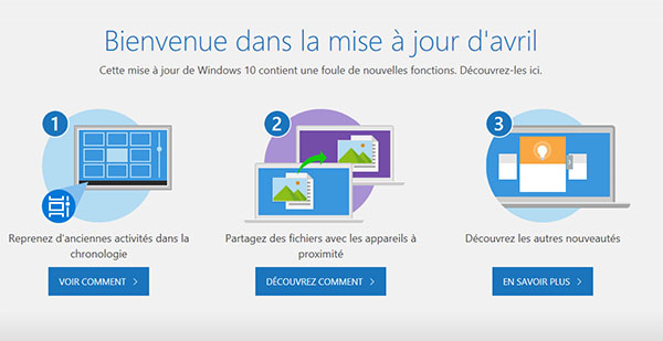 La mise à jour April Update de Windows 10 est en ligne