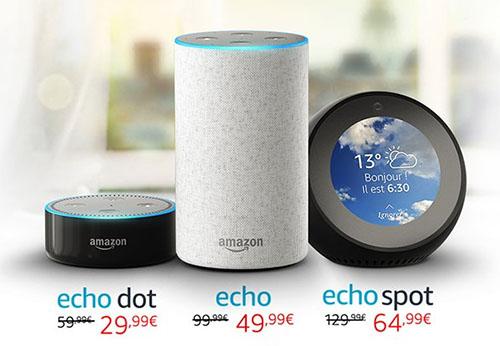 Bon Plan : les enceintes Amazon Echo avec 50% de remise jusqu'à demain matin