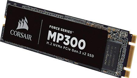 Corsair lance le Force MP300 : un SSD M.2. NVMe plutôt abordable…