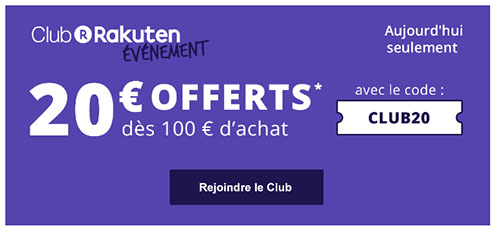 Bon Plan : 20€ de réduction sur l'ensemble du site Priceminister