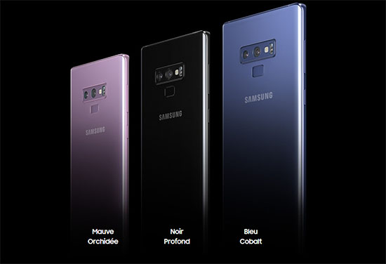 Samsung officialise le Galaxy Note 9, disponible en précommande à partir de 1009€