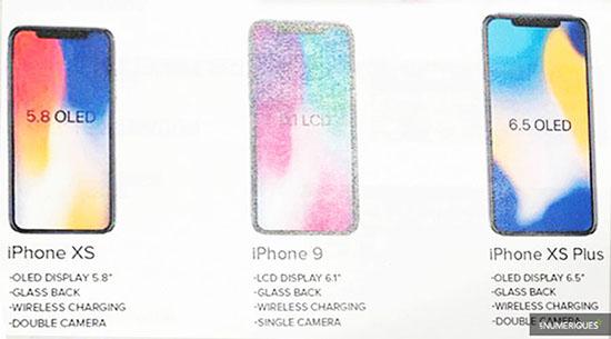 Rumeurs : trois nouveaux smartphone Apple : l'iPhone XS, l'iPhone 9 et l'iPhone XS Plus