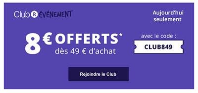 Bon Plan : Rakuten vous offre 8€ de réduction aujourd'hui