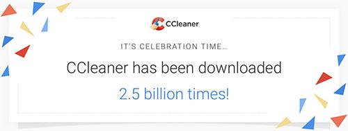 CCleaner : 2,5 milliards de téléchargements et une version 5.47 !