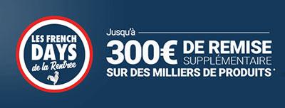 Bon Plan : RueDuCommerce offre de 10 à 300€ de remise pour les French Days